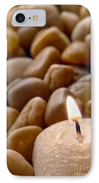 Candle On The Rocks Phone Case by Olivier Le Queinec