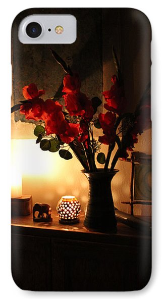 Candles And Orange Gladiolus Phone Case by Ron McMath