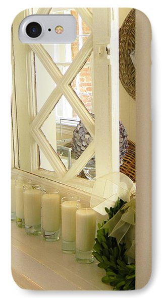Candles And Wicker And Window IPhone Case by Jean Goodwin Brooks