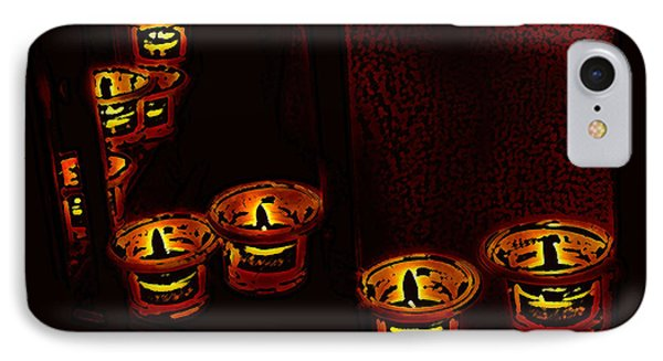 IPhone Case featuring the digital art Candles For The Evening by Kathleen Stephens