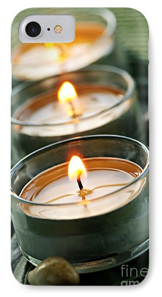 Candles On Green Phone Case by Elena Elisseeva