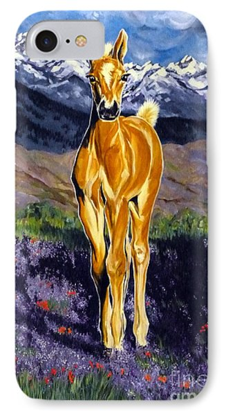 Candy Rocky Mountain Palomino Colt IPhone Case by Jackie Carpenter
