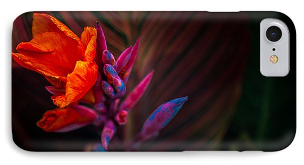 Canna Lilly At Freimann Square Phone Case by Gene Sherrill