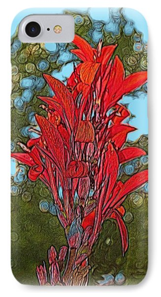 IPhone Case featuring the digital art Canna Lily by Dennis Lundell