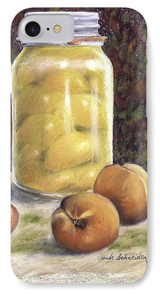 Canned Peaches IPhone Case by Claude Schneider