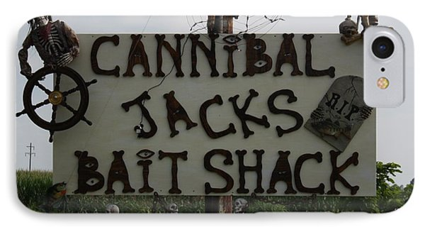 Cannibal Jacks Bait Shack Phone Case by Terry Scrivner