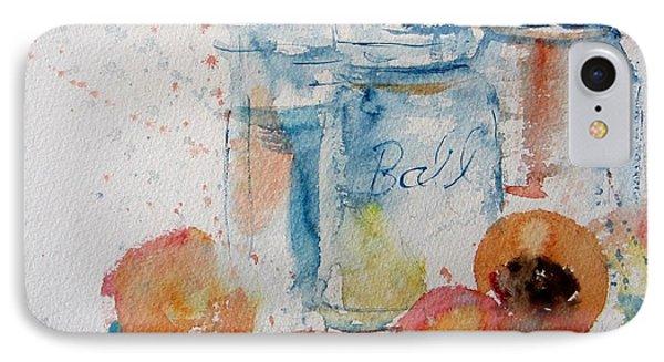 Canning Peaches Phone Case by Sandra Strohschein