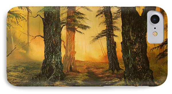 Cannock Chase Forest In Sunlight IPhone Case