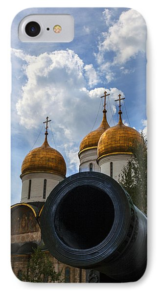 Cannon And Cathedral  - Russia IPhone Case by Madeline Ellis