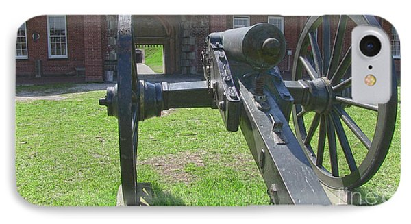 Cannon At Fort Pulaski Main Entrance IPhone Case by D Wallace