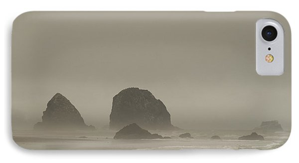 IPhone 7 Case featuring the photograph Cannon Beach In A Fog Oregon by Yulia Kazansky