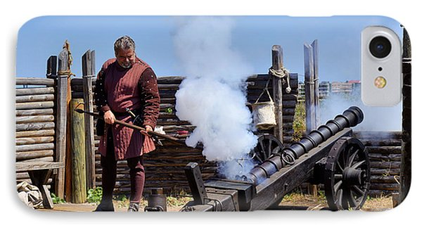 Cannon Firing At Fountain Of Youth Fl Phone Case by Christine Till