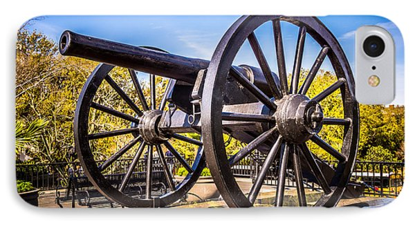 Cannon In New Orleans Washington Artillery Park Phone Case by Paul Velgos