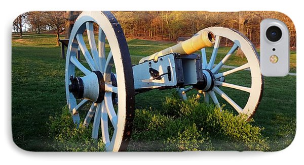 Cannon In The Grass IPhone Case by Michael Porchik