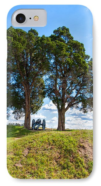Cannon On A Hill IPhone Case by John M Bailey