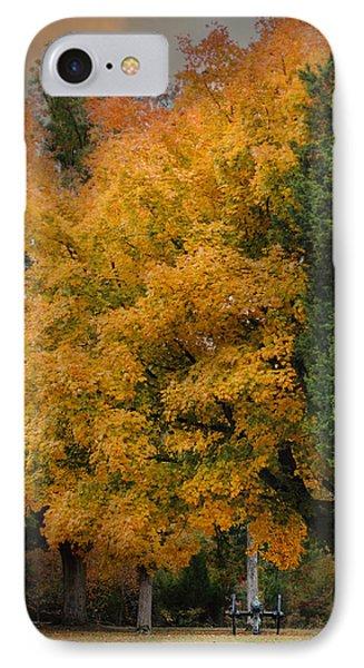 Cannon Under The Golden Tree - Autumn Scene IPhone Case