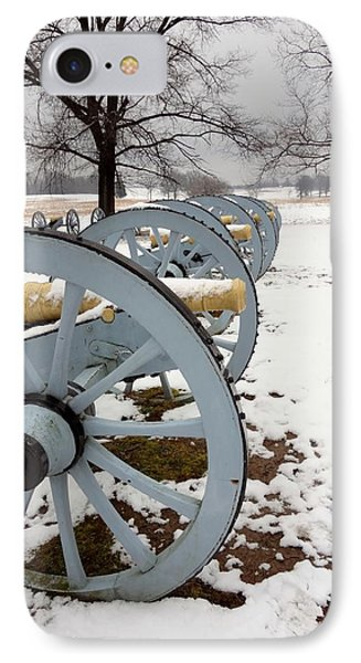 Cannon's In The Snow IPhone Case by Michael Porchik