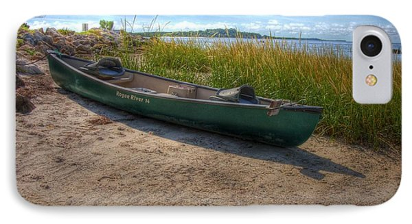 IPhone Case featuring the photograph Canoe At Cedar Key by Donald Williams