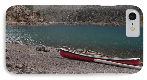 Canoe At Moraine Lake IPhone Case by Cheryl Miller