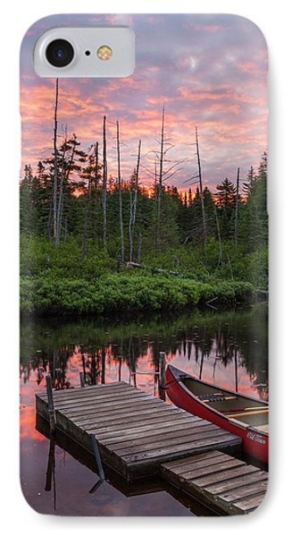 Canoe Next To The Cold Stream IPhone Case
