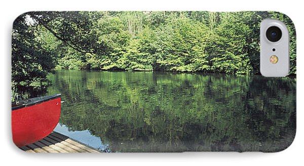 Canoe On A Boardwalk In A River, Neckar IPhone Case