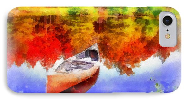 Canoe On Autumn Pond Phone Case by Anthony Caruso