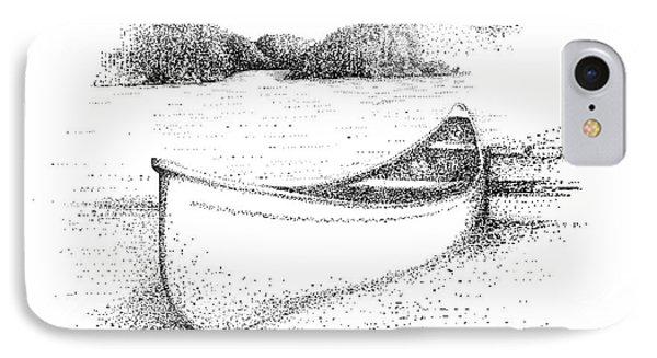 Canoe On The Beach Phone Case by Steve Knapp