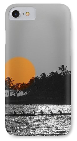 Canoe Ride In The Sunset IPhone Case by Athala Carole Bruckner