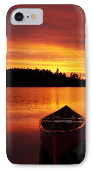 Canoe Sunset IPhone Case