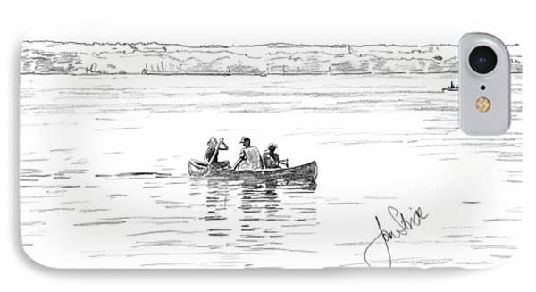 Canoeing On The Lake Phone Case by Jan Stride