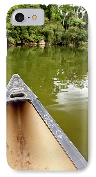 Canoeing The Macal River In Jungle IPhone Case