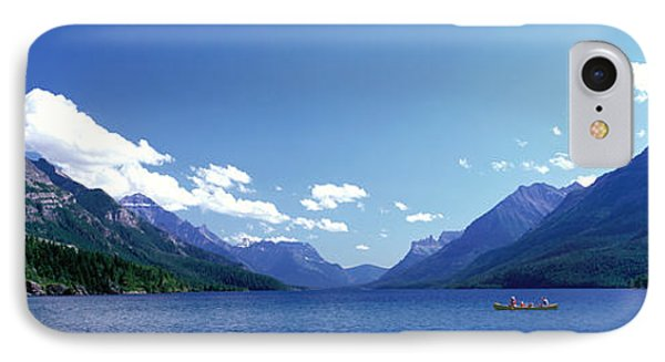Canoeing Waterton Lake Waterton Glacier IPhone Case