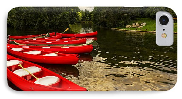 Canoes On A Lake IPhone Case