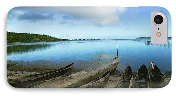 Canoes On The Beach, Antananarivo IPhone Case by Keren Su