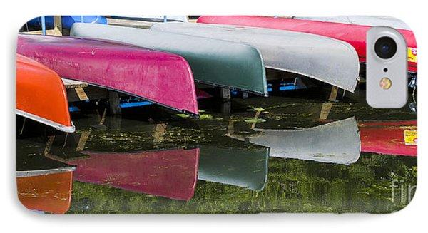 canoes - Lake Wingra - Madison  IPhone Case by Steven Ralser