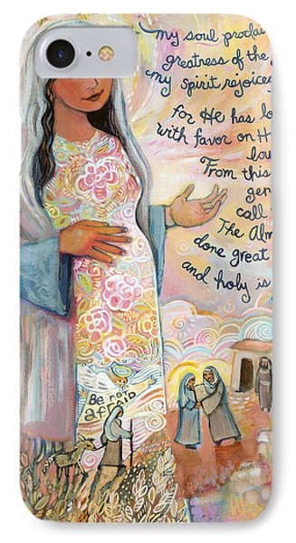 Canticle Of Mary IPhone Case by Jen Norton