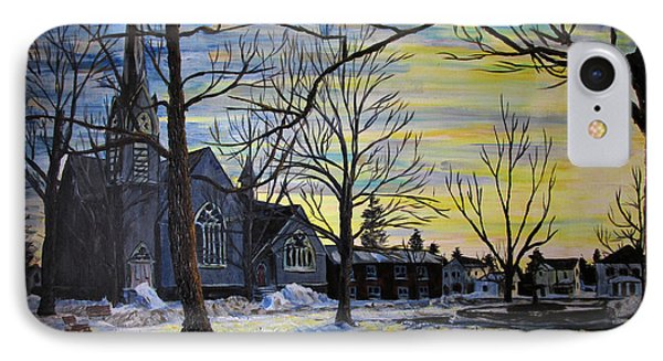 Canton Park Under January Sun IPhone Case by Denny Morreale