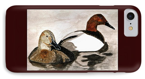 Canvasback Couple IPhone Case by Angela Davies