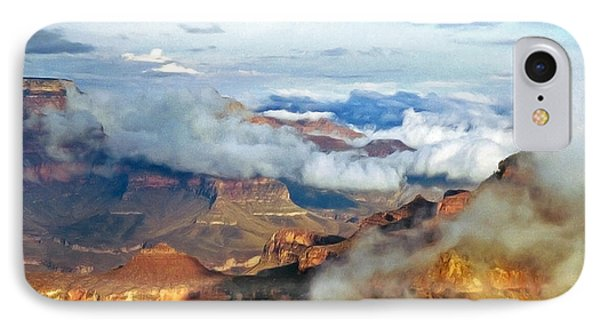 IPhone Case featuring the photograph Canyon Clouds by Alan Socolik