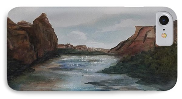 IPhone Case featuring the painting Canyon De Chelly by Ellen Levinson