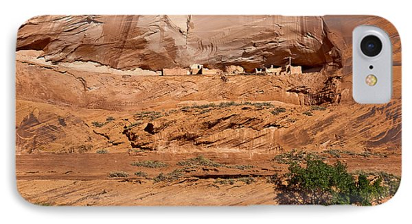 Canyon Dechelly Whitehouse Ruins Phone Case by Bob and Nadine Johnston