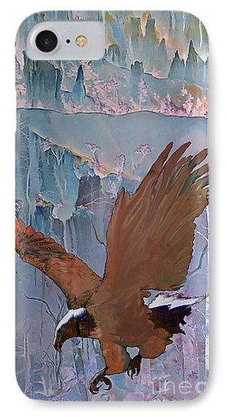 IPhone Case featuring the digital art Canyon Flight by Ursula Freer