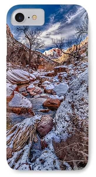 Canyon Stream Winterized Phone Case by Christopher Holmes