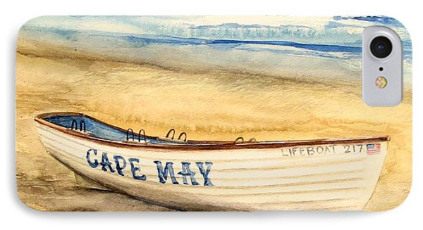 Cape May Lifeguard Boat - 2 IPhone Case by Nancy Patterson