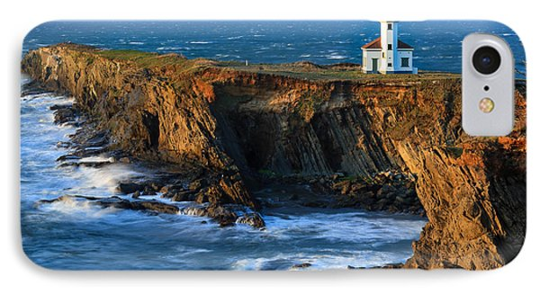 Cape Arago Lighthouse IPhone Case by Robert Bynum