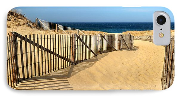 IPhone Case featuring the photograph Cape Cod Beach by Mitchell R Grosky
