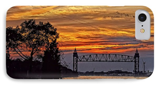 Cape Cod Canal Sunset  IPhone Case by Constantine Gregory