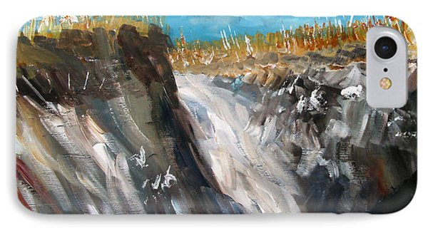IPhone Case featuring the painting Cape Cod Dunes by Michael Helfen