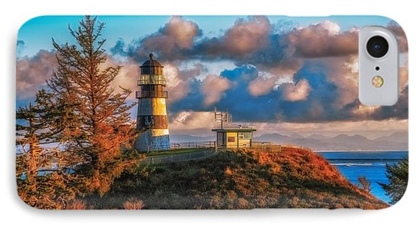 Cape Disappointment Light House IPhone Case by James Heckt