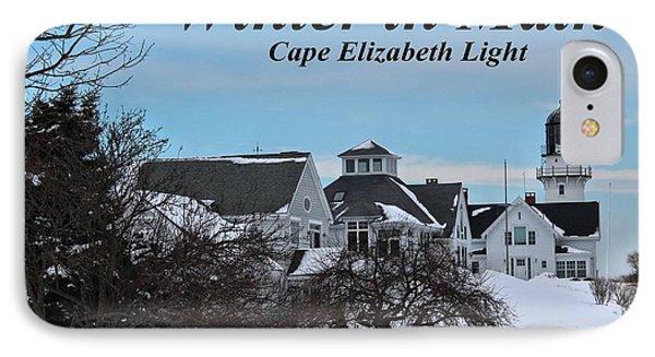 Cape Elizabeth_9802a IPhone Case by Joseph Marquis